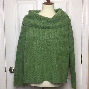 Eileen Fisher Gorgeous Green Wide Neck Sweater